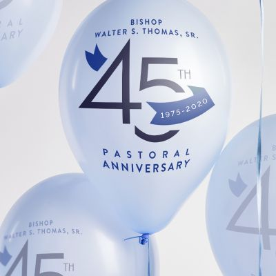 New Psalmist Baptist Church Bishops 45th Anniversary Logo